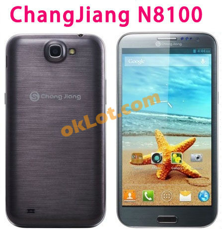 5.7inch Changjiang N8100 mtk6589 QUAD CORE phone android 4.2 1280*720 Capacitive Screen 1G+4G 13MP GPS 3G