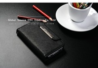 Чехол для для мобильных телефонов 100% Genuine cross pattern leather case for iphone 4g 4s with card holder and wrist strap wallet case for iphone4s