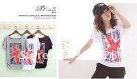 Free shipping 2012 new women fashion Simple flag t-shirt 10511 jacket