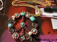 Колье-ошейник Fashion Jewelry Beads Inlaid Signs Peace Pendant Nice Necklace NJ-0030