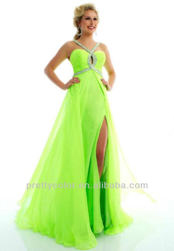 Long prom dresses 2014 new arrival halter sleeveless apple green red