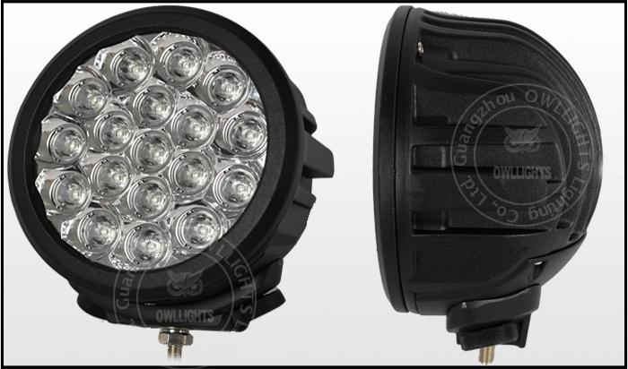 super brighter 90w round led driving light spot light. Black Bedroom Furniture Sets. Home Design Ideas