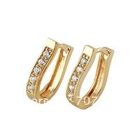 free shipping ! women stud earrings 18k yellow gold filled hoop stud earrings jewelry jewrllry gift
