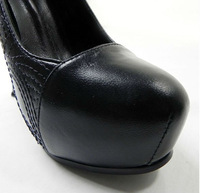 Туфли на высоком каблуке Sexy Obscure pattern design black fashion high heels
