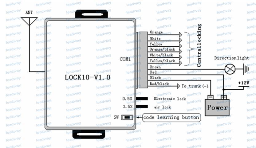Keyless entry system k-002-1 схема подключения на русском