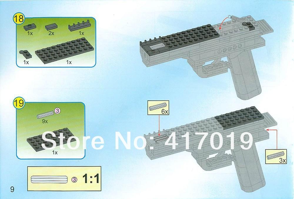 Как сделать пистолет из лего схема видео