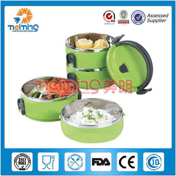 hot stainless steel thermal food warmer,plastic food container