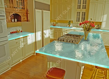 Fused Glass Countertops For Kitchen   Buy Glass Countertops,19 36m ...