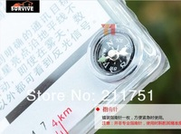 Набор для путешествий Ultimate Survival Star Flash Signal Mirror+Compass+Whistle+Magnesium Flint Fire starter