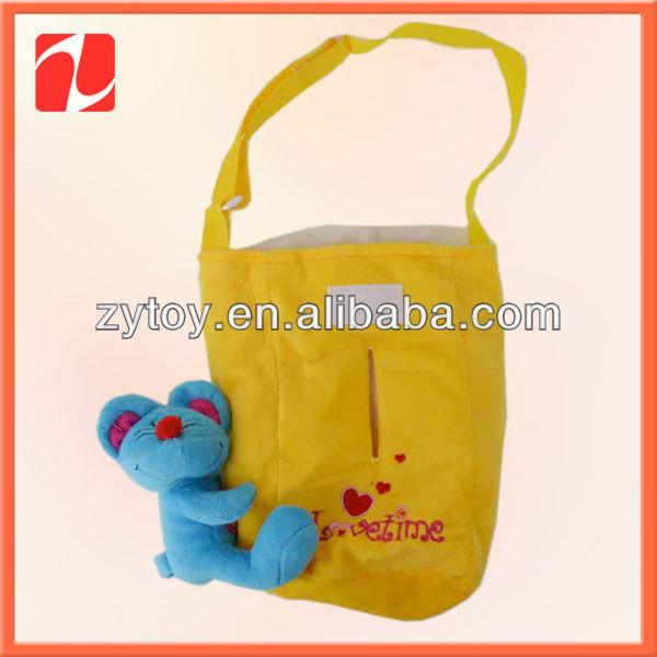 Custom wholesale plush animal bag toy