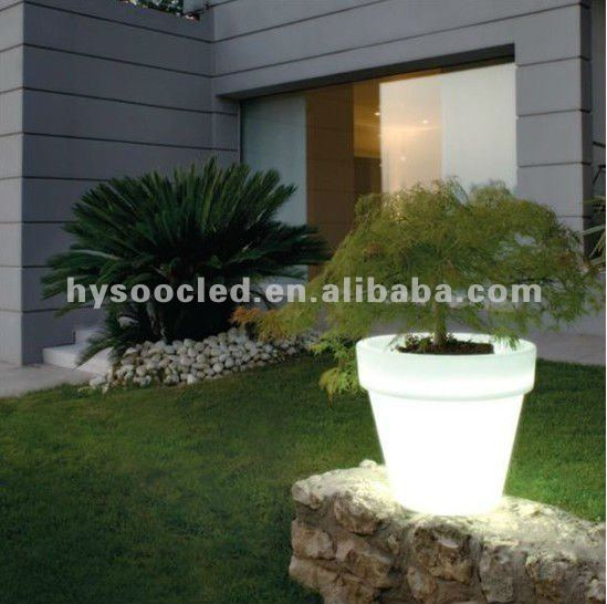 Wonderful led flower pot/PE planter