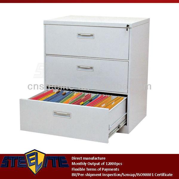 Sous le bureau rouge brillant m tallique verticale 3 for Meuble tiroir sous bureau