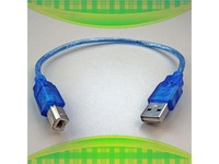 25CM HI-Speed USB 2.0 A Male to B Male Printer Cable Cord Blue 9872
