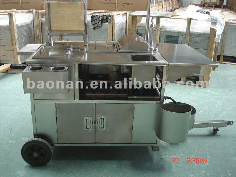 Hot dog carrinho/carrinho de cachorro quente para a venda/hot dog carrinho móvel