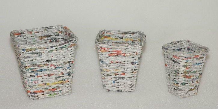 Cajas de papel de periodico imagui - Cajas forradas de papel ...