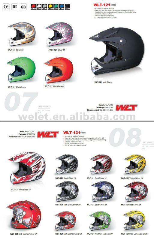 New racing helmet