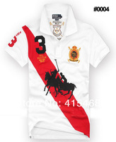 Мужская футболка 2013 Men's man 4 style polo shirt Short Sleeve cotton T-Shirt men S M L XL XXL