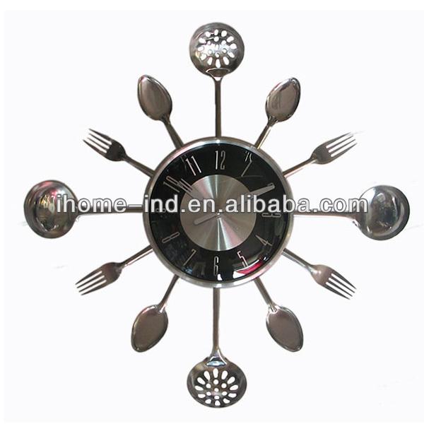 Horloge de cuisine moderne horloge murale avec papillon de jago 23x30x3cm da - Pendule cuisine moderne ...