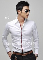 Мужская классическая рубашка Special offer new men's leisure long-sleeved shirt sell like hot cakes male long-sleeved shirts new models; size M L XL