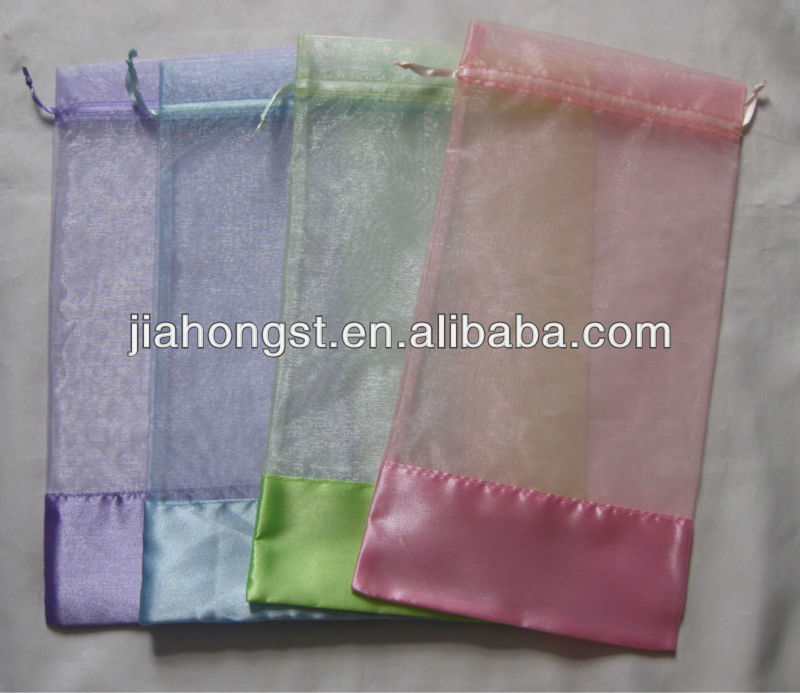 heart organza pouch bag