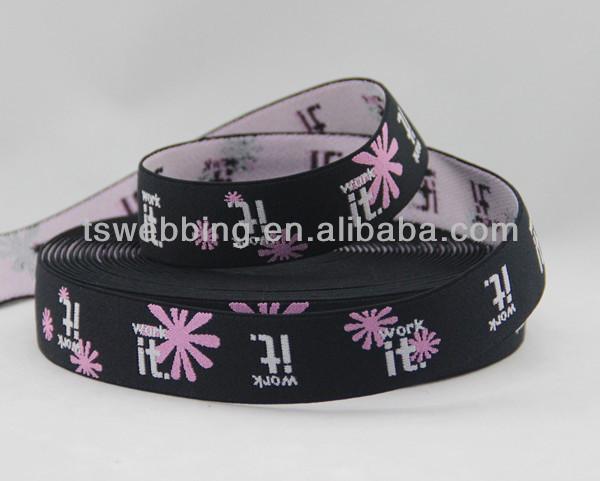Jacquard elastic webbing for underwear logo elastic webbing