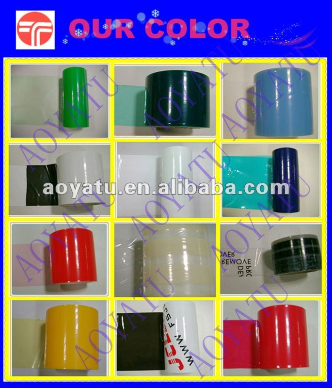 surface colored plastic film