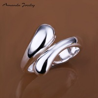 Free shipping,wholesale jewelry simple silver ring,high quality ,fashion/classic jewelry, Nickle free,ring vners,,S-R012