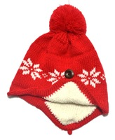 New design!!!Free shipping 5 Colors winter warm Jacquard knitted ear children hats Girls princess caps kids caps