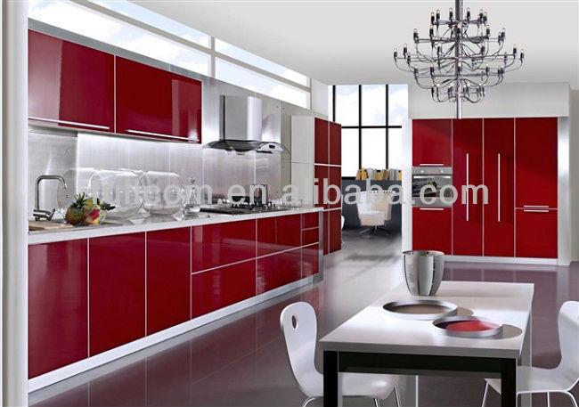 Red High Gloss Mdf Kitchen Cabinet Door Buy Pvc Kitchen Cabinet Door