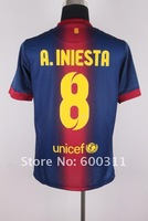 free shipping Wholesale (12pcs/lot)  soccer uniforms  12/13 home  10# MESSI soccer jerseys +can DIY name and number