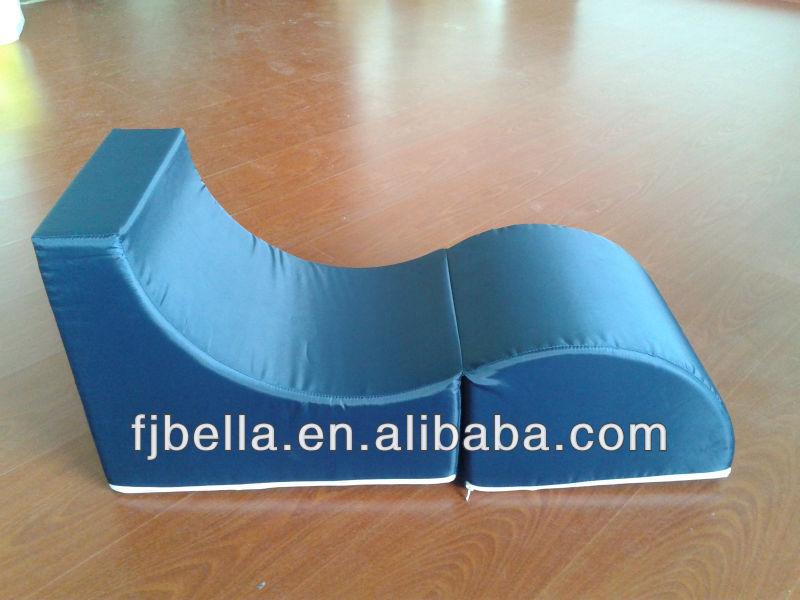 Bande bleue enfants Flip Out mousse canapé - siège de coussin en mousse