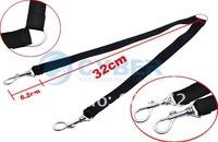 Ошейники и Поводки для собак Two Way Double Leash Coupler Walk 2 Dogs 1 Lead nylon swivel snap Black 710