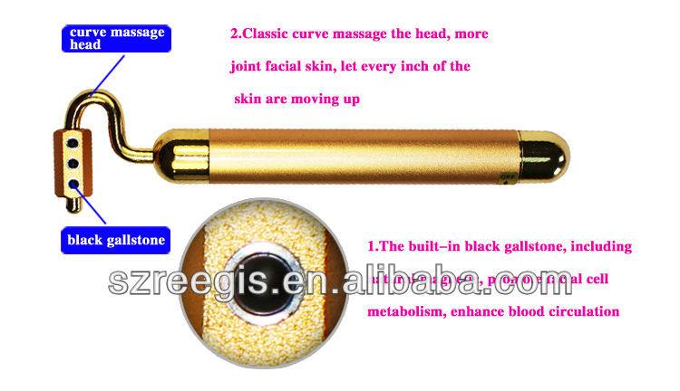 U vorm elektrische 24k goud gezichtsmassage roller met - Aangepaste bar ...