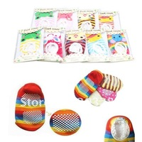 Носки для мальчиков 10 off per $100 order+ New Baby boy girl kid non-slip Crew socks Toddler D