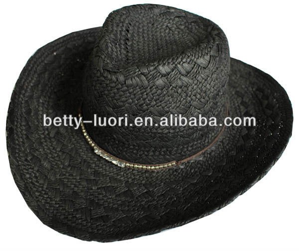 Fashion Men's Paper Straw Cowboy's Hats