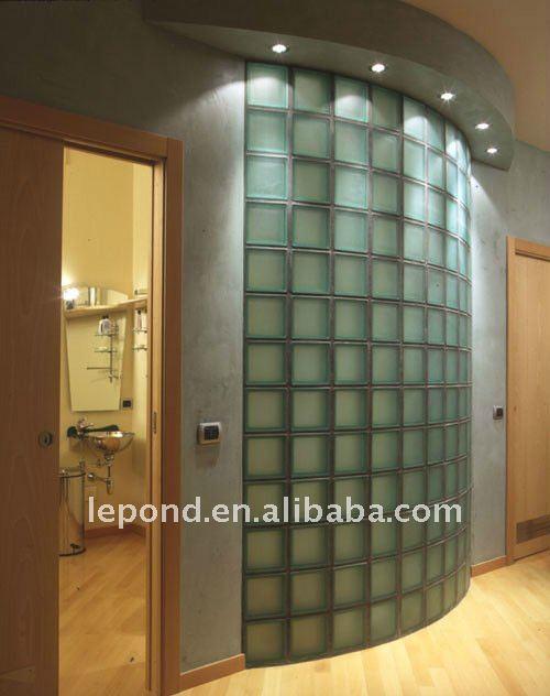 Tijolo de vidro decorativo/blocos de vidro colorido