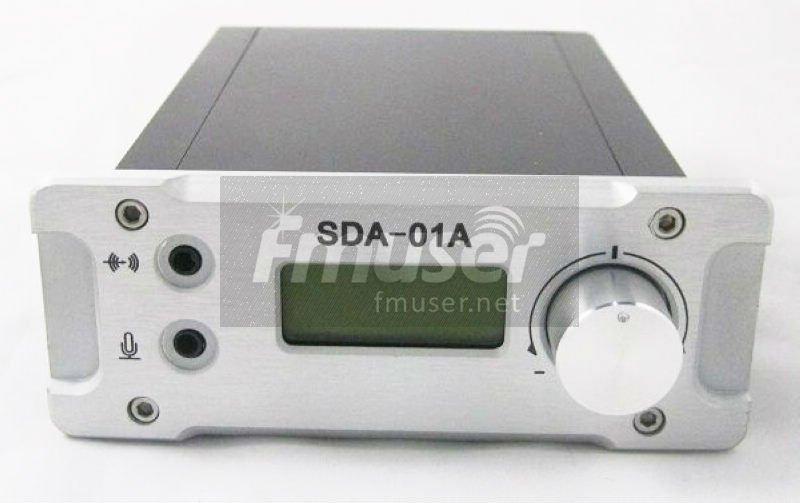 SDA 01A 1W FM PLL radio broadcast transmitter PC Control+