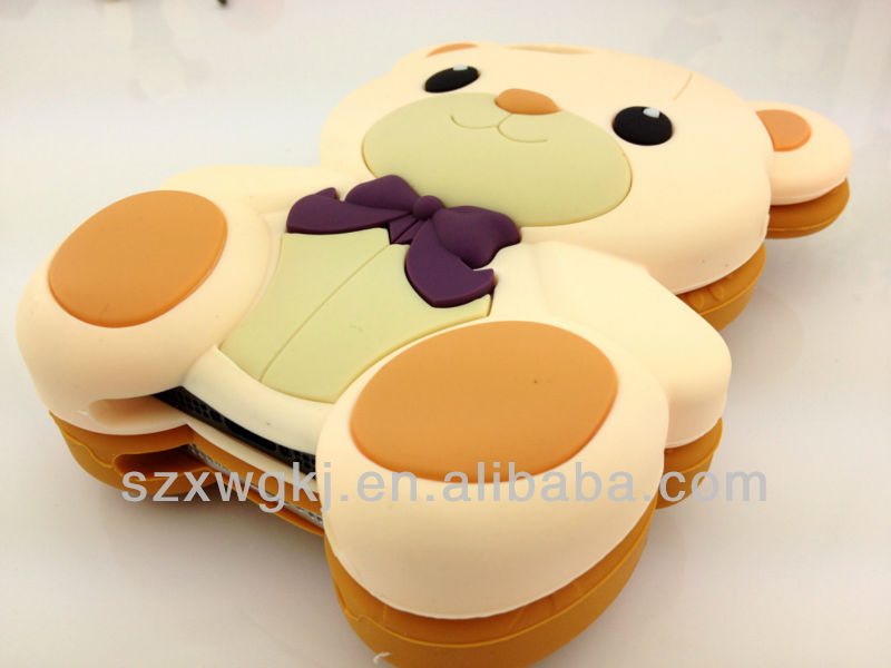 Factory directly price 3D case bear design for iphon cover