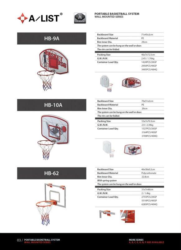 Wall mounted Portable Basketball board Rim