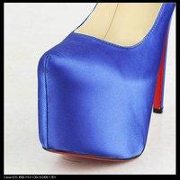 Туфли на высоком каблуке new fashion shoes high heels shoes lady pumps shoes 2012 black pink slik bridal shoes party shoes 16CM 2012