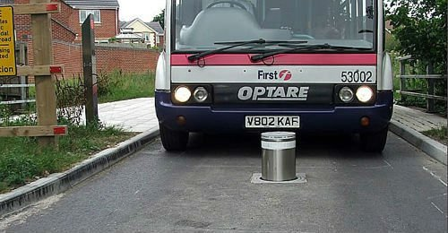 Traffic road Bollard for Paraplegic parking made of 6mm thickness 304# stainless steel