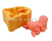 Принадлежности для ванной комнаты 3D Cute Baby Flexible Silicone Mold/Mould For Handmade Soap Candle Candy Jewelry Jelly Cake Fimo Resin Crafts