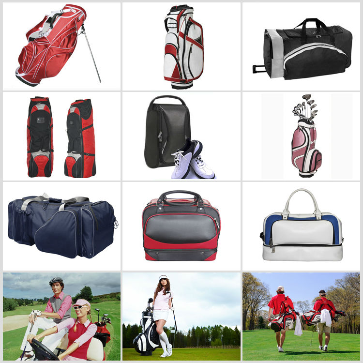 Colorful golf travel bag without wheel