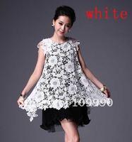 Sexy hot elegant party Dress Lace Chiffon  double S/M/L/XL