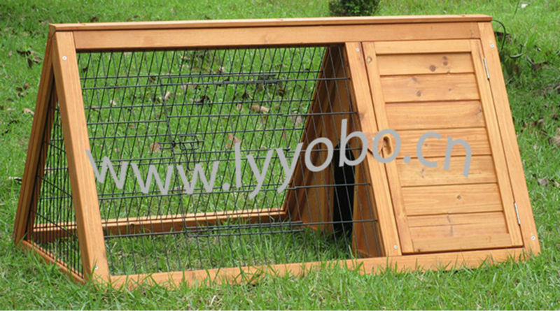 Wooden Metal Indoor abbit Hutch Cages Houses Homes Pet Design Triangular YB-R2307 (S)
