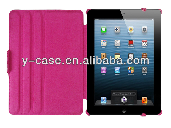Multi-angles stand Folio leather case cover for iPad Air leather case
