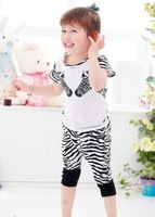 Комплект одежды для девочек Boys suits/Girls suits/Zebra suits/Kids short sleeve set, children set, unisex sportwear, children clothing