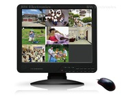 8 Channel 15 inch LCD Combo Standalone DVR, 8ch all in one h.264 dvr, 8CH D1 CCTV DVR, Free shipping