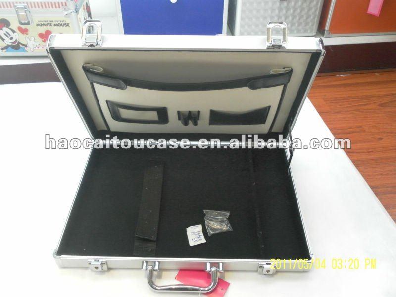 Black aluminum laptop case,firm durable