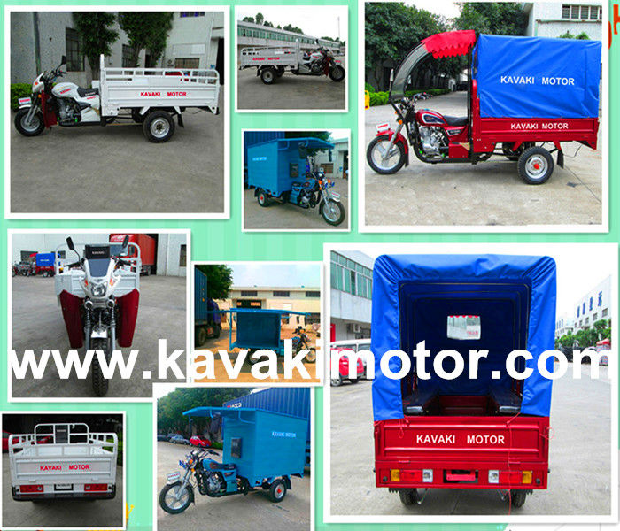 China manufacturers new style150cc/200cc big carriage cargo tricycle/three wheel motor in Guangzhou